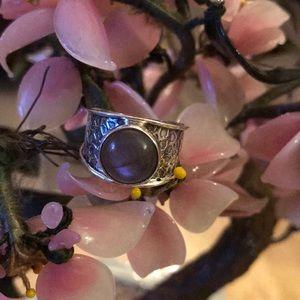 Vintage 925 labradorite ring
